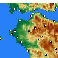 Nearby Forecast Locations - Tritaia - Carte