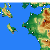 Nearby Forecast Locations - Vartholomio - Carte