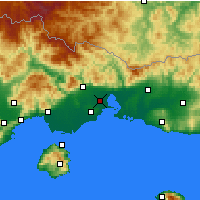 Nearby Forecast Locations - Vistonida - Carte