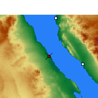 Nearby Forecast Locations - Ras Gharib - Carte