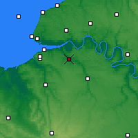 Nearby Forecast Locations - Pont-Audemer - Carte
