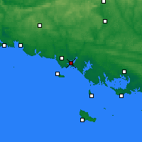 Nearby Forecast Locations - Lorient - Carte