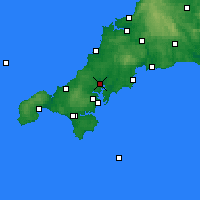 Nearby Forecast Locations - Truro - Carte