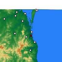 Nearby Forecast Locations - Gold Coast - Carte
