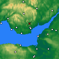 Nearby Forecast Locations - Caerphilly - Carte