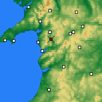 Nearby Forecast Locations - Gwynedd - Carte