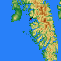 Nearby Forecast Locations - Sitka - Carte