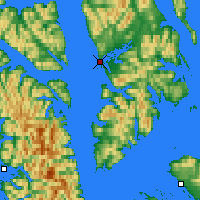 Nearby Forecast Locations - Angoon - Carte