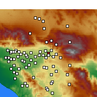 Nearby Forecast Locations - San Bernardino - Carte