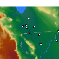 Nearby Forecast Locations - Calexico - Carte