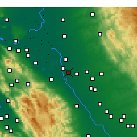 Nearby Forecast Locations - Manteca - Carte