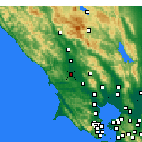 Nearby Forecast Locations - Sebastopol - Carte