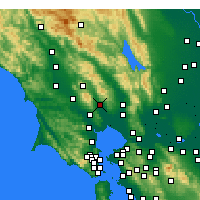 Nearby Forecast Locations - Sonoma - Carte