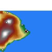 Nearby Forecast Locations - Hilo - Carte