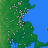 Nearby Forecast Locations - Braintree - Carte