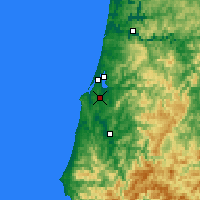 Nearby Forecast Locations - Coos Bay - Carte