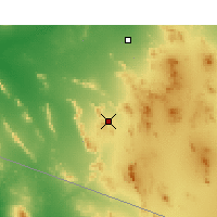 Nearby Forecast Locations - Ajo - Carte