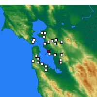 Nearby Forecast Locations - Alameda - Carte