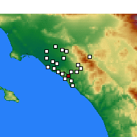 Nearby Forecast Locations - Aliso Viejo - Carte
