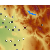 Nearby Forecast Locations - Apache Junction - Carte