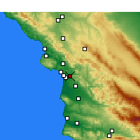 Nearby Forecast Locations - Arroyo Grande - Carte