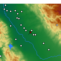 Nearby Forecast Locations - Atwater - Carte