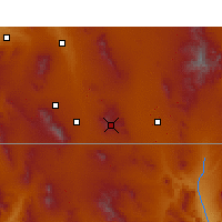 Nearby Forecast Locations - Bisbee - Carte