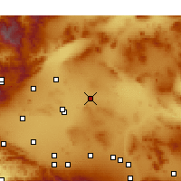 Nearby Forecast Locations - Boron - Carte