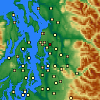 Nearby Forecast Locations - Bothell - Carte