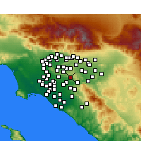 Nearby Forecast Locations - Brea - Carte