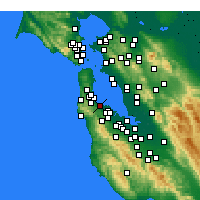 Nearby Forecast Locations - Burlingame - Carte