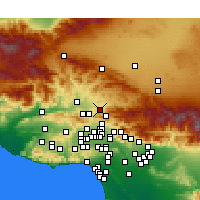 Nearby Forecast Locations - Canyon Country - Carte