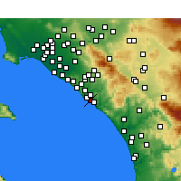 Nearby Forecast Locations - Capistrano Beach - Carte