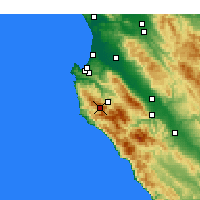 Nearby Forecast Locations - Carmel-by-the-Sea - Carte