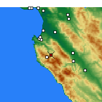 Nearby Forecast Locations - Carmel Valley Village - Carte