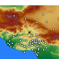 Nearby Forecast Locations - Castaic - Carte