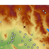 Nearby Forecast Locations - Cave Creek - Carte