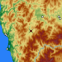Nearby Forecast Locations - Cave Junction - Carte