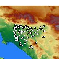 Nearby Forecast Locations - Chino Hills - Carte