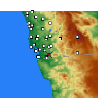 Nearby Forecast Locations - Chula Vista - Carte