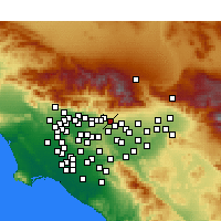 Nearby Forecast Locations - Claremont - Carte