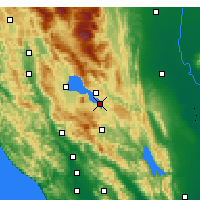 Nearby Forecast Locations - Clearlake - Carte