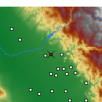 Nearby Forecast Locations - Clovis - Carte