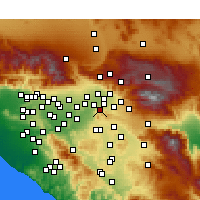 Nearby Forecast Locations - Colton - Carte