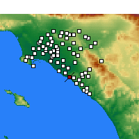 Nearby Forecast Locations - Corona del Mar - Carte