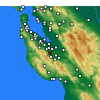 Nearby Forecast Locations - Cupertino - Carte