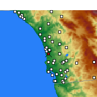 Nearby Forecast Locations - Del Mar - Carte
