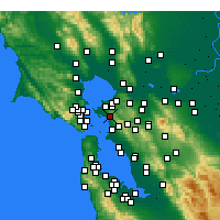 Nearby Forecast Locations - El Cerrito - Carte