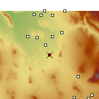 Nearby Forecast Locations - Eloy - Carte