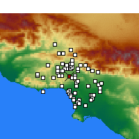Nearby Forecast Locations - Encino - Carte